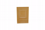 Dolls House Raised Panels, 10x 1/12th Scale, Caramel Brown. A1010